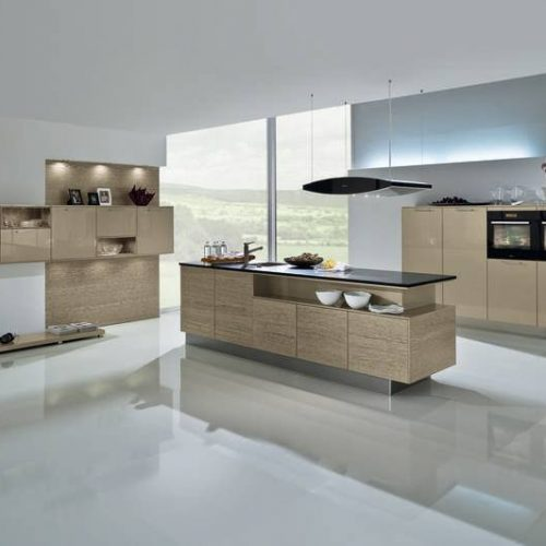AV 3020 Metallic cubanite high gloss lacquer and AV 5080 Champagne metallic oak veneered