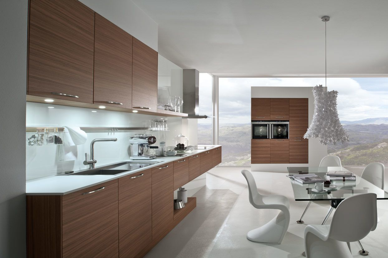 Contemporary Walnut Kitchen - K and I Kitchens