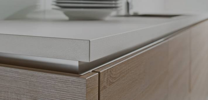 Close up of kitchen counter and drawer